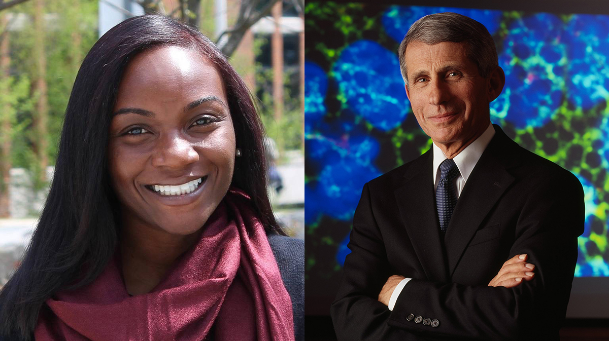Anthony Fauci and Kizzmekia Corbett
